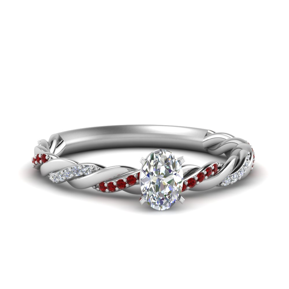 Twisted Vine Diamond Ring