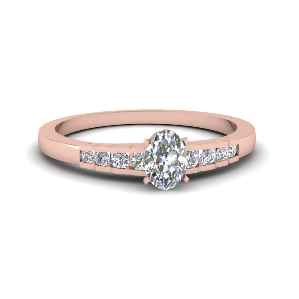 Rose Gold Oval Shaped Petite Ring