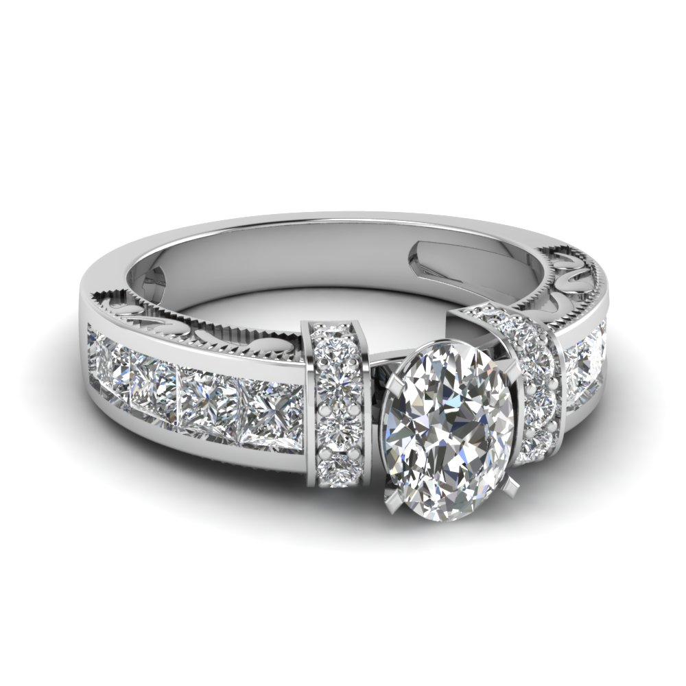 oval shaped vintage engagement rings fascinating diamonds