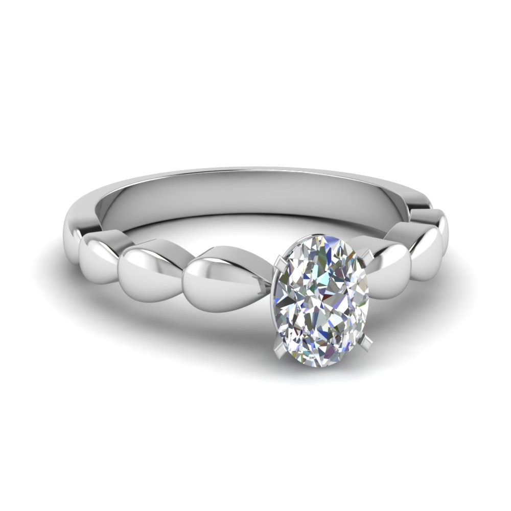 drain drop oval shaped solitaire engagement ring in FD4001OVR NL WG