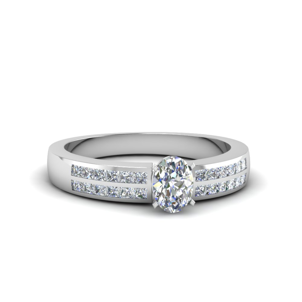 oval shaped double row channel diamond wide ring in FDENS3122OVR NL WG