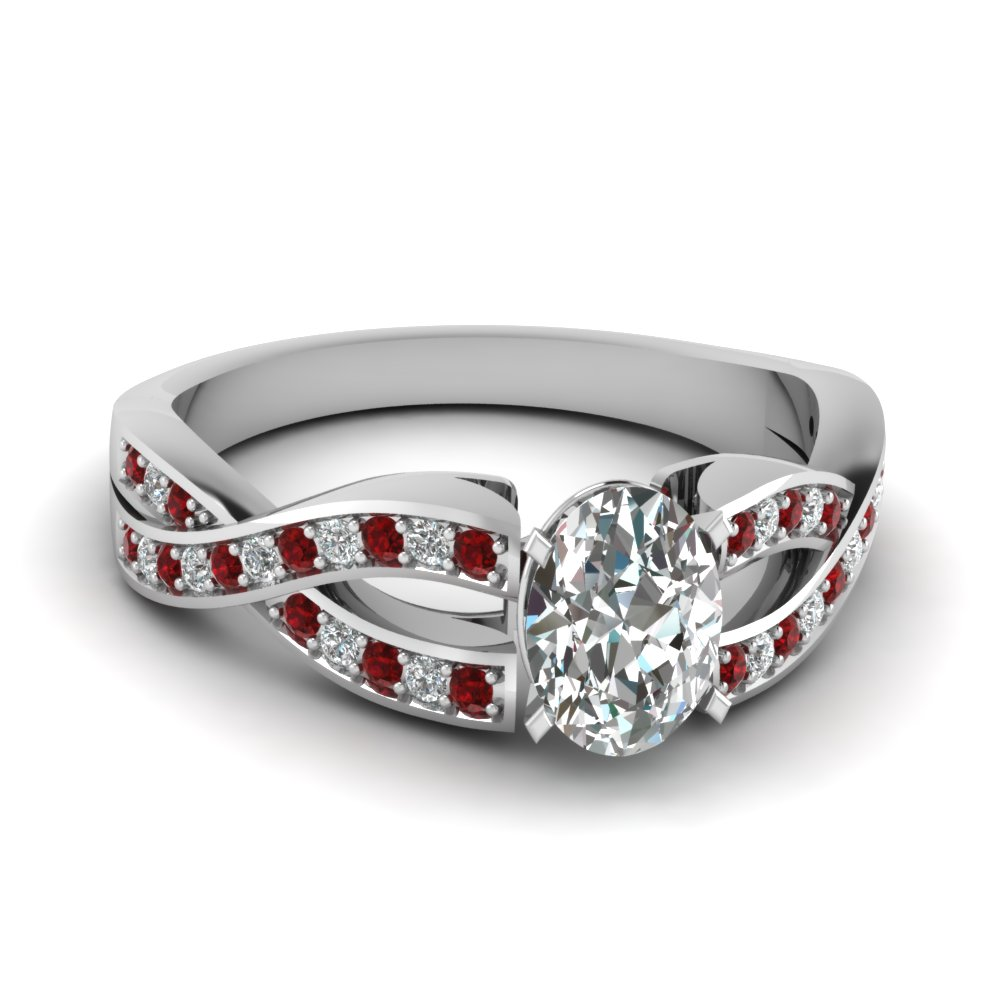 Entwined Pave Diamond Ring