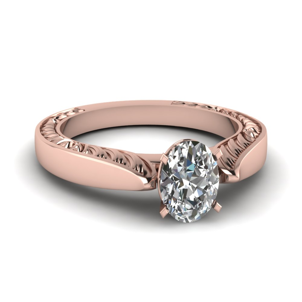 Engraved Engagement Rings