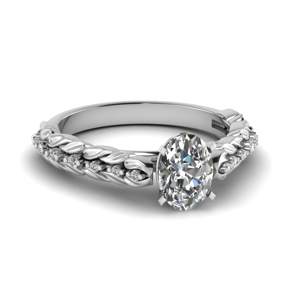 1/2 Karat Oval Shaped Engagement Rings