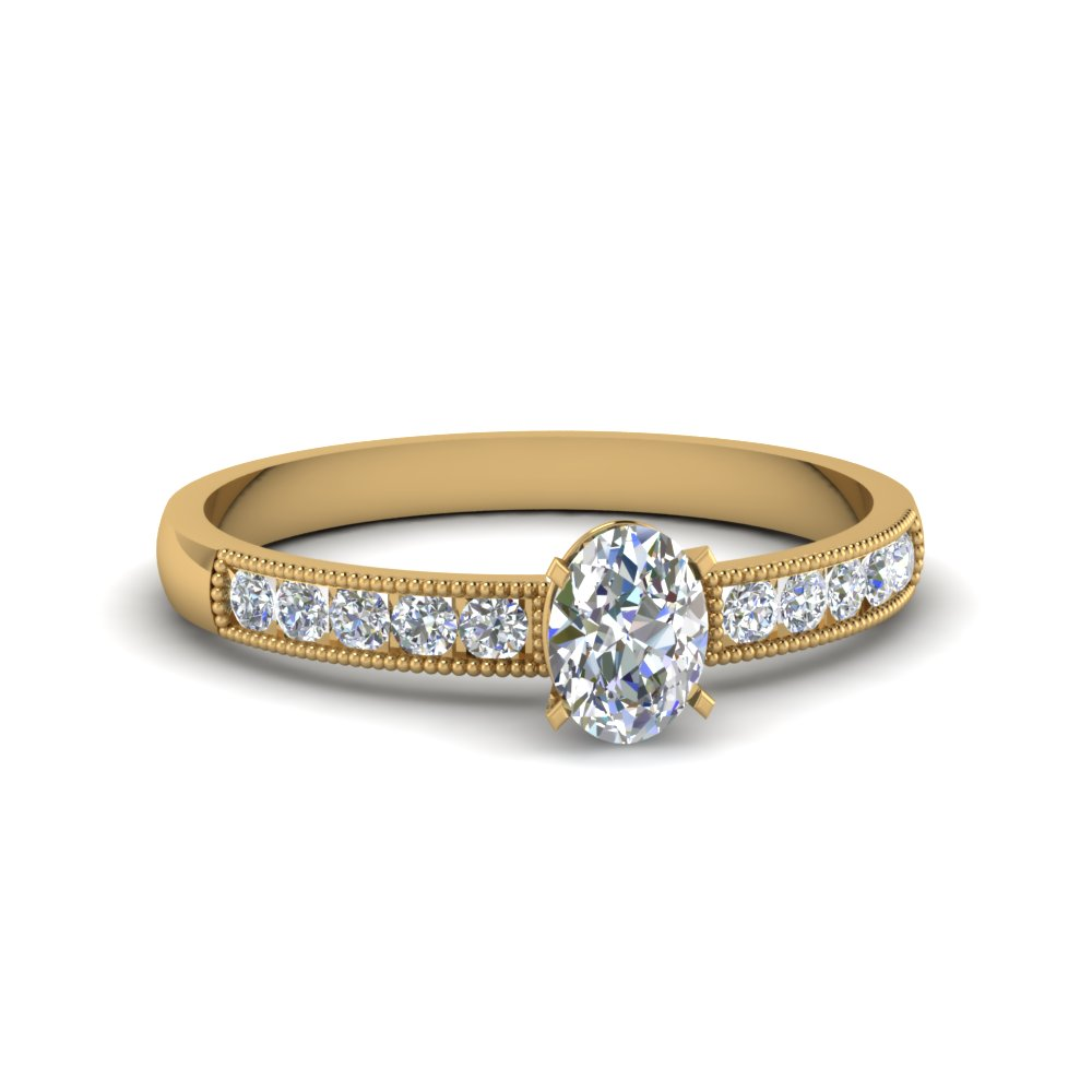 1/2 Karat Oval Diamond Engagement Rings