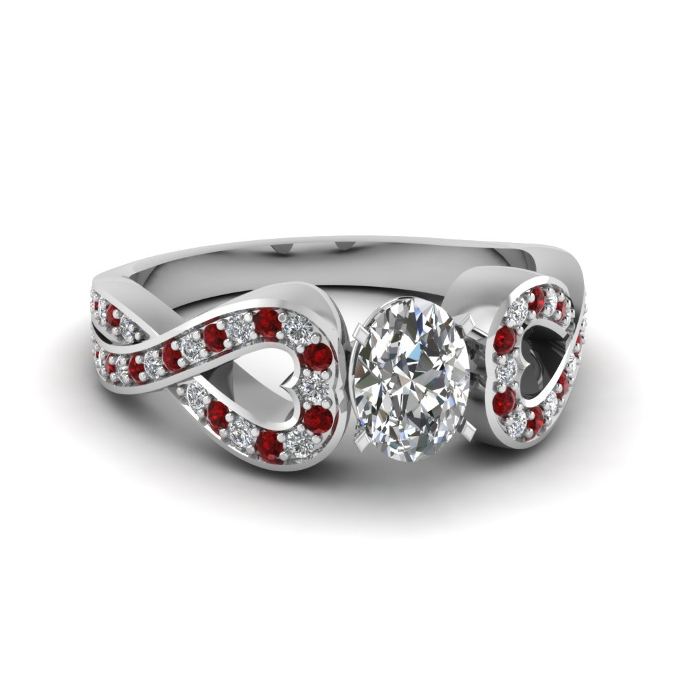 Entwine Oval Diamond Ring
