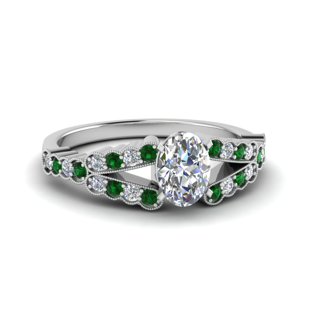 Emerald Pave Diamond Ring