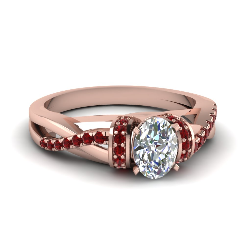 Pave Twisted Diamond Ring