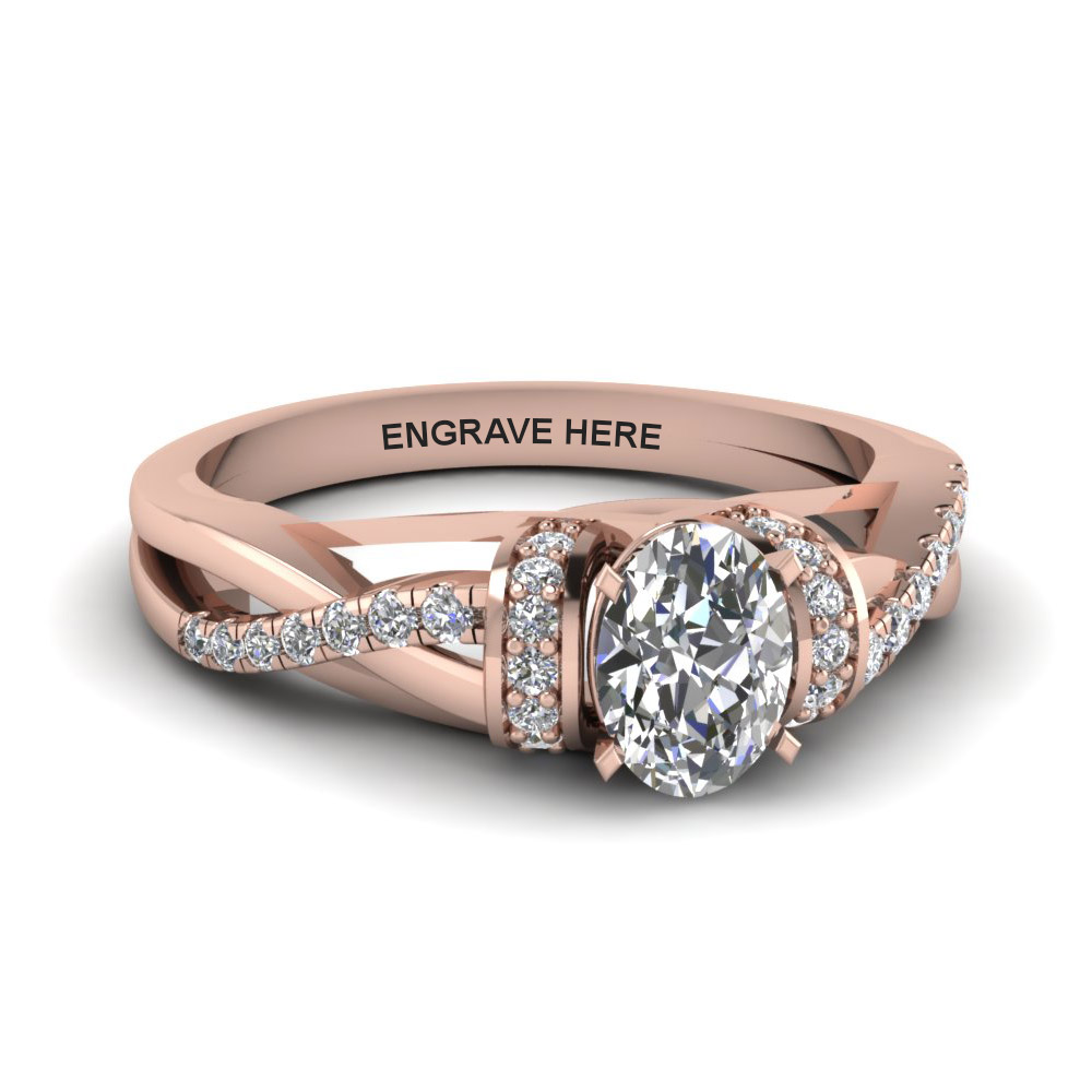 Personalized Pave Split Diamond Ring