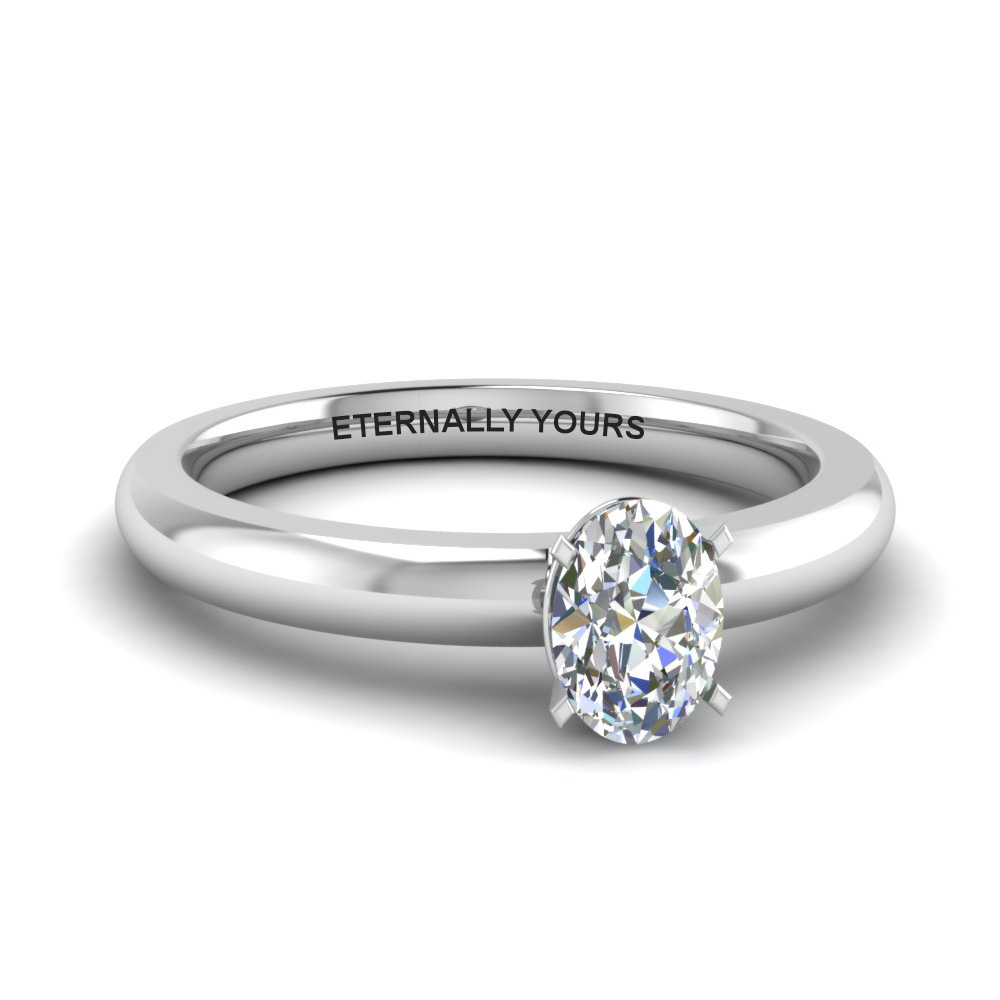 c65035c3a824bb Classic Oval Diamond Solitaire Ring In 950 Platinum | Fascinating ...