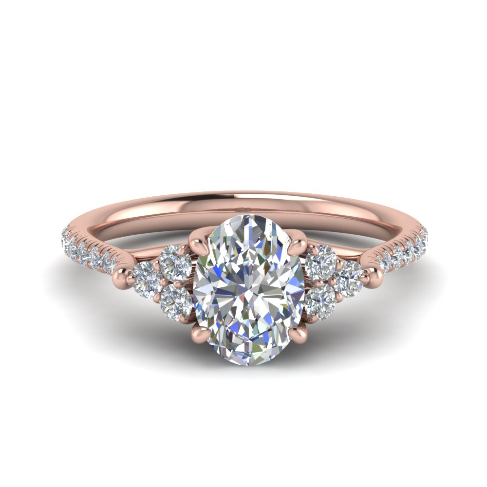 Oval Shaped Petite Diamond Ring