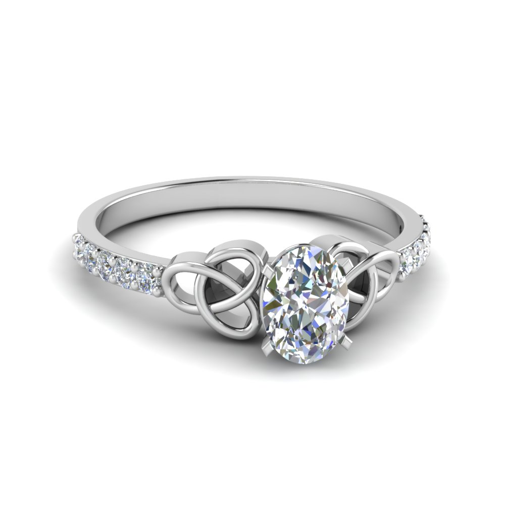 Oval Diamond Irish Design Ring