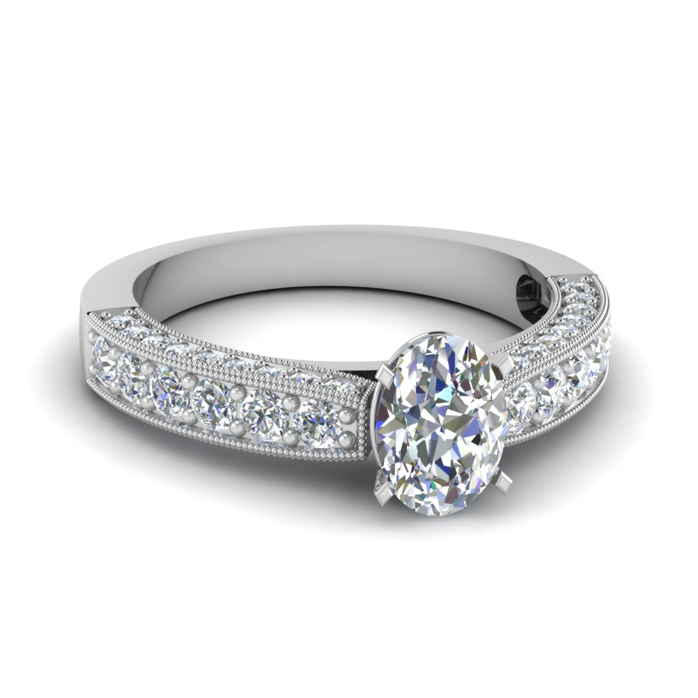 1 Carat Oval Shaped Diamond For Her