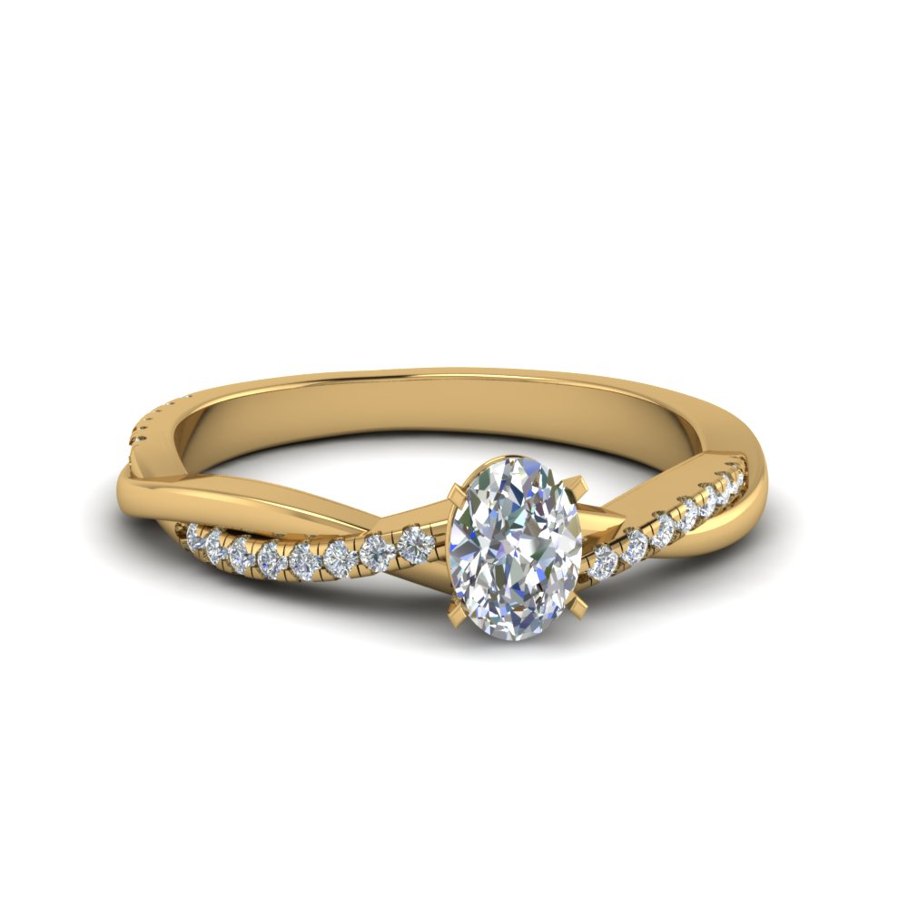 Oval Diamond Twisted Ring 2 Ct.