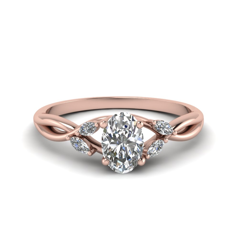 Oval Shaped Split Shank Engagement Rings