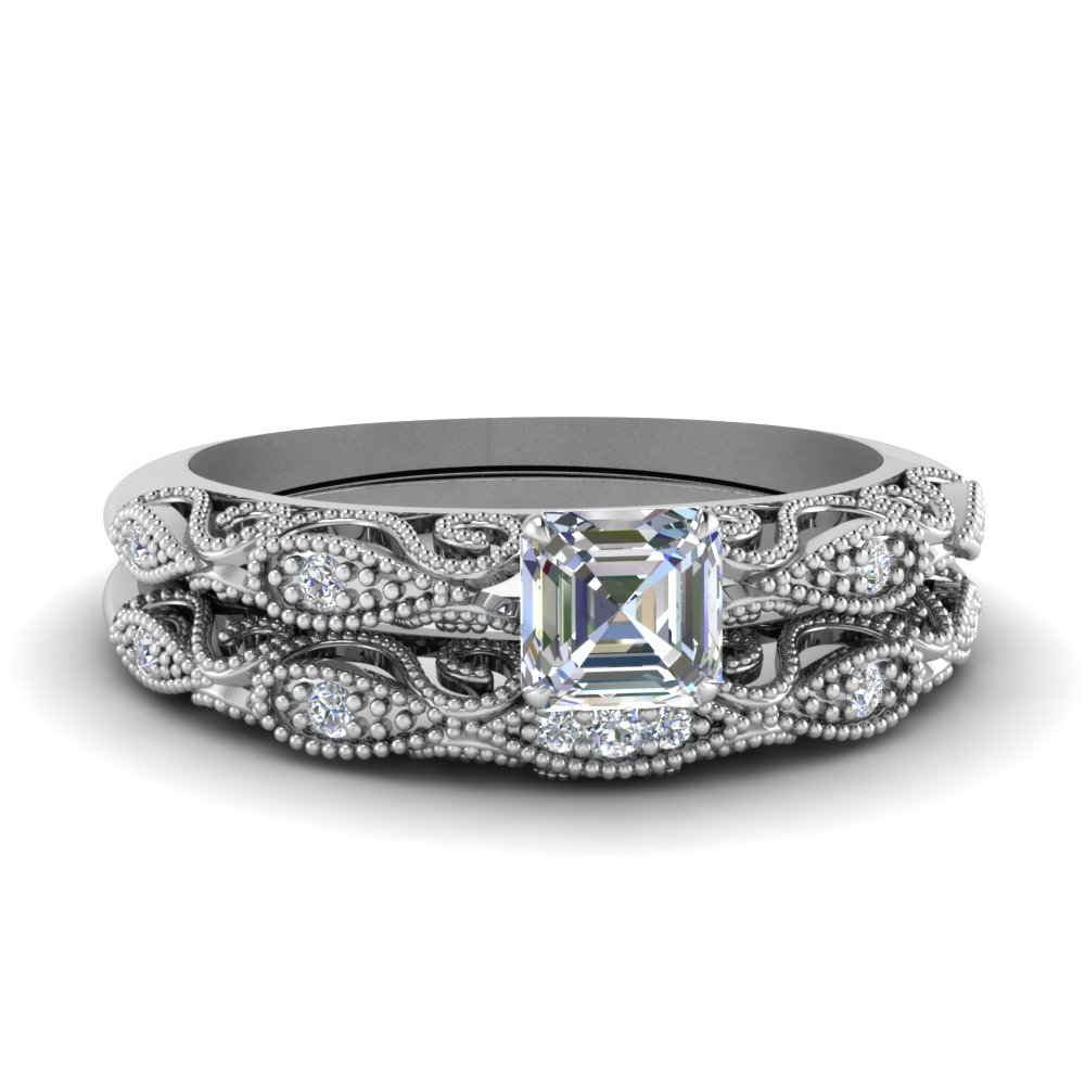 Paisley Diamond Ring Set