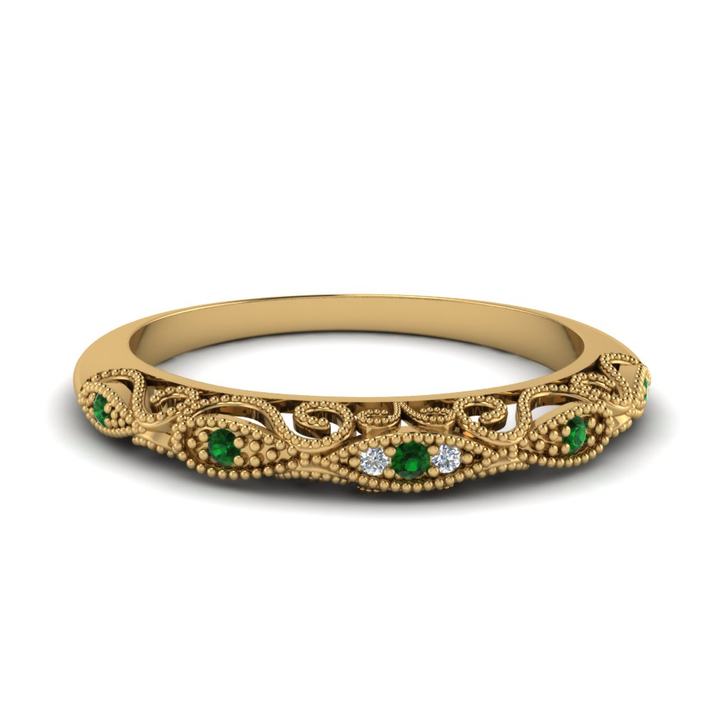 paisley diamond wedding band with emerald in FD69805BGEMGR NL YG.jpg
