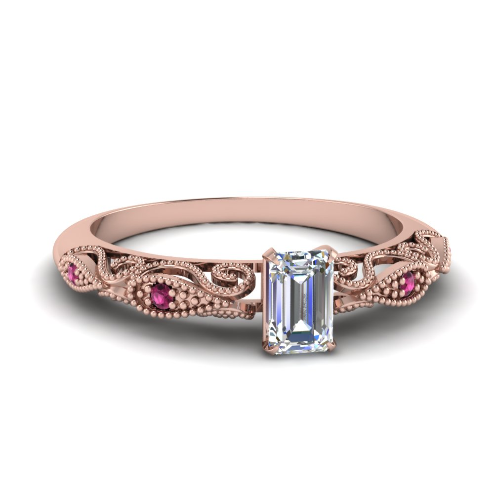 paisley emerald cut diamond engagement ring with pink sapphire in FD69805EMRGSADRPI NL RG.jpg
