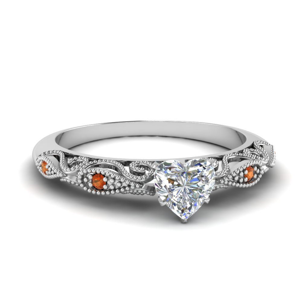 paisley heart diamond engagement ring with orange sapphire in FD69805HTRGSAOR NL WG.jpg