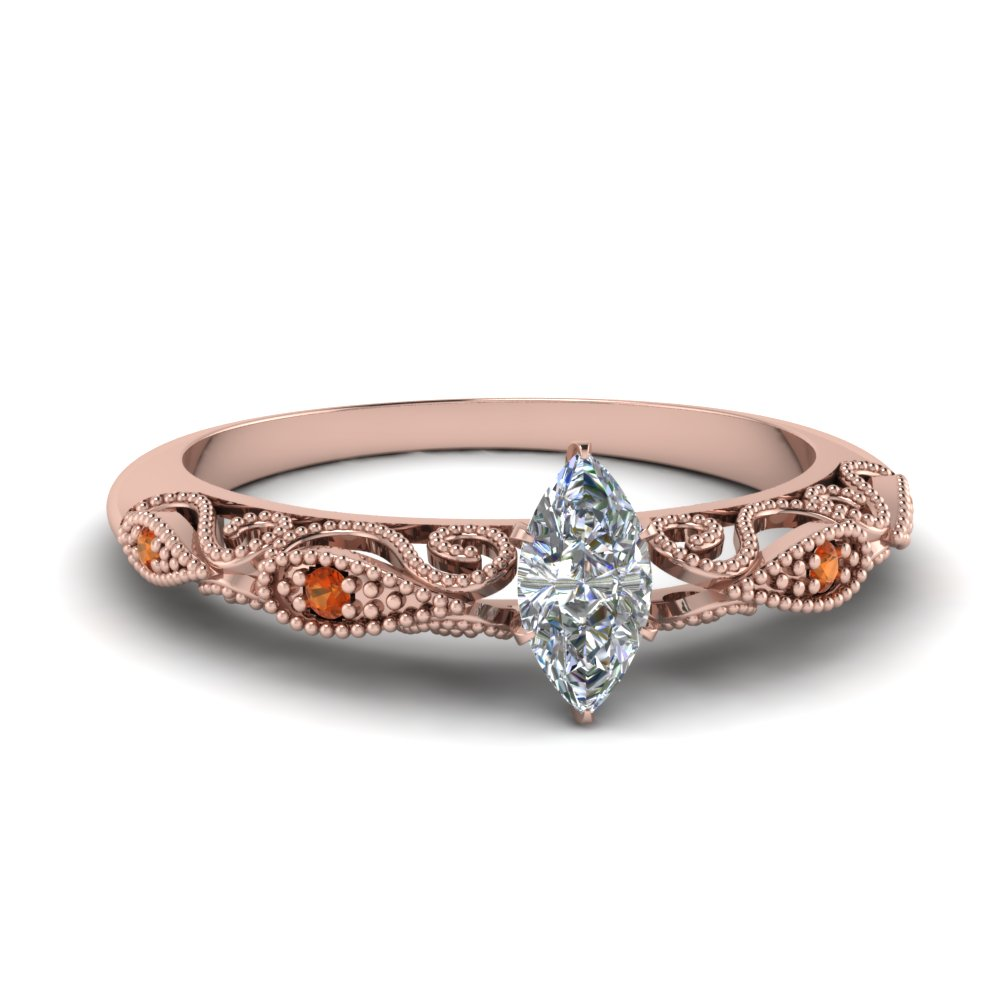 paisley marquise diamond engagement ring with orange sapphire in FD69805MQRGSAOR NL RG.jpg