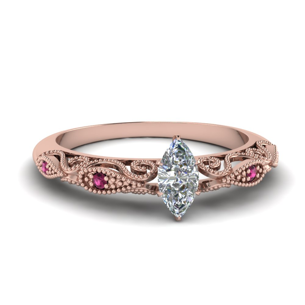paisley marquise diamond engagement ring with pink sapphire in FD69805MQRGSADRPI NL RG.jpg