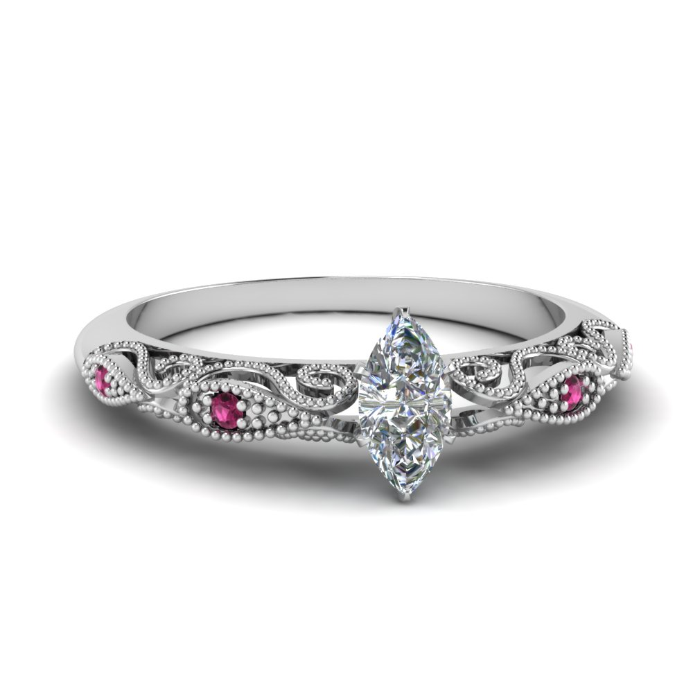 paisley marquise diamond engagement ring with pink sapphire in FD69805MQRGSADRPI NL WG.jpg