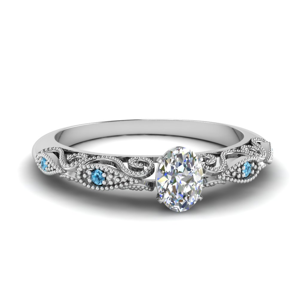 paisley oval lab diamond engagement ring with blue topaz in FD69805OVRGICBLTO NL WG.jpg