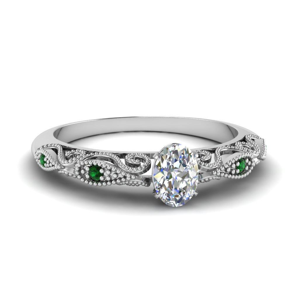 paisley oval diamond engagement ring with emerald in FD69805OVRGEMGR NL WG.jpg