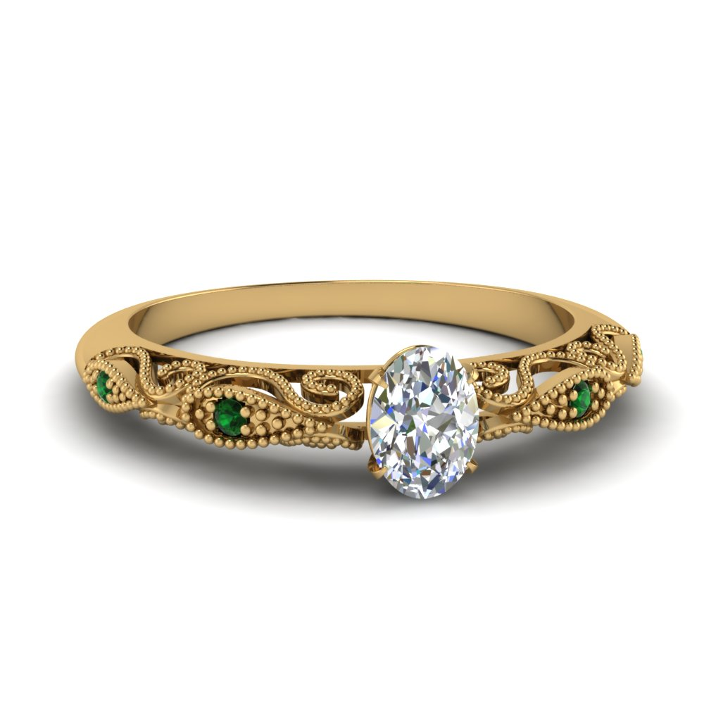 paisley oval diamond engagement ring with emerald in FD69805OVRGEMGR NL YG.jpg
