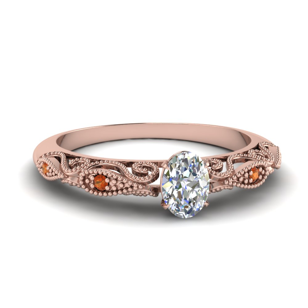 paisley oval diamond engagement ring with orange sapphire in FD69805OVRGSAOR NL RG.jpg