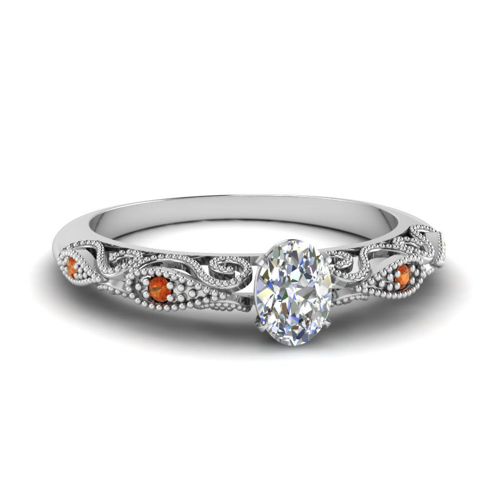 paisley oval diamond engagement ring with orange sapphire in FD69805OVRGSAOR NL WG.jpg
