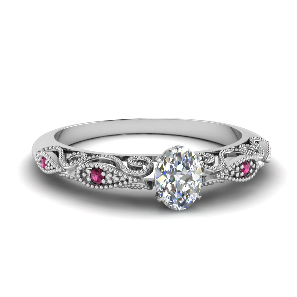paisley oval moissanite engagement ring with pink sapphire in FD69805OVRGSADRPI NL WG.jpg