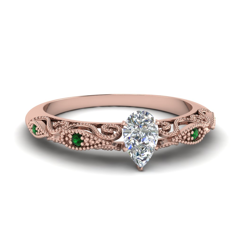 paisley pear diamond engagement ring with emerald in FD69805PERGEMGR NL RG.jpg