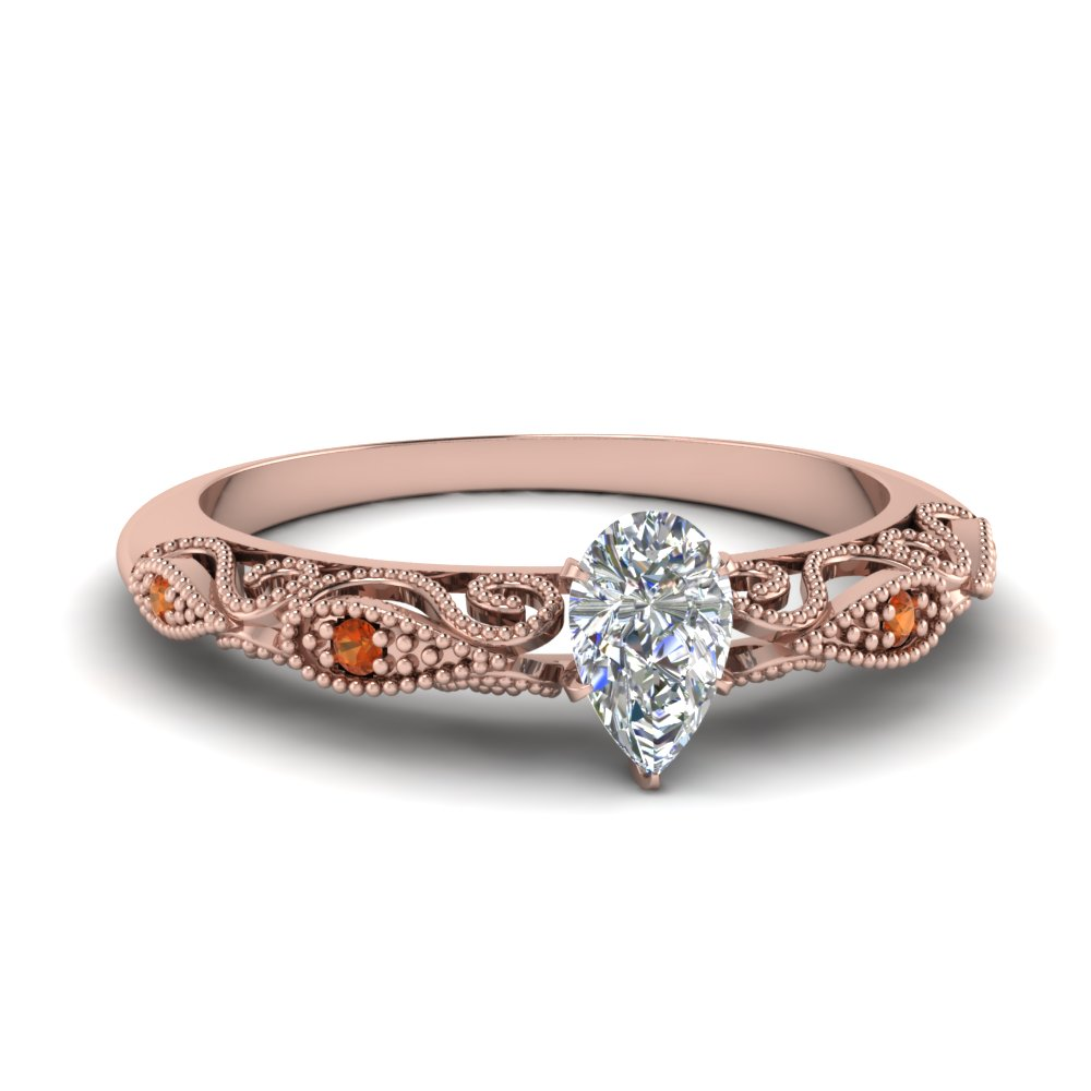 paisley pear diamond engagement ring with orange sapphire in FD69805PERGSAOR NL RG.jpg