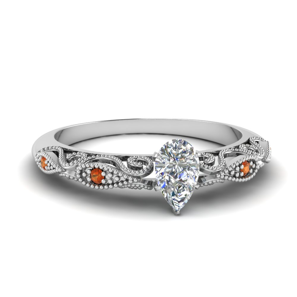 paisley pear diamond engagement ring with orange sapphire in FD69805PERGSAOR NL WG.jpg