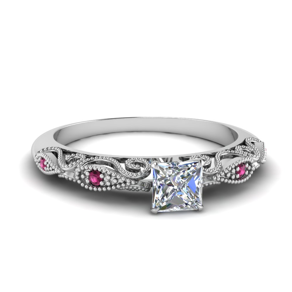 paisley princess cut diamond engagement ring with pink sapphire in FD69805PRRGSADRPI NL WG.jpg