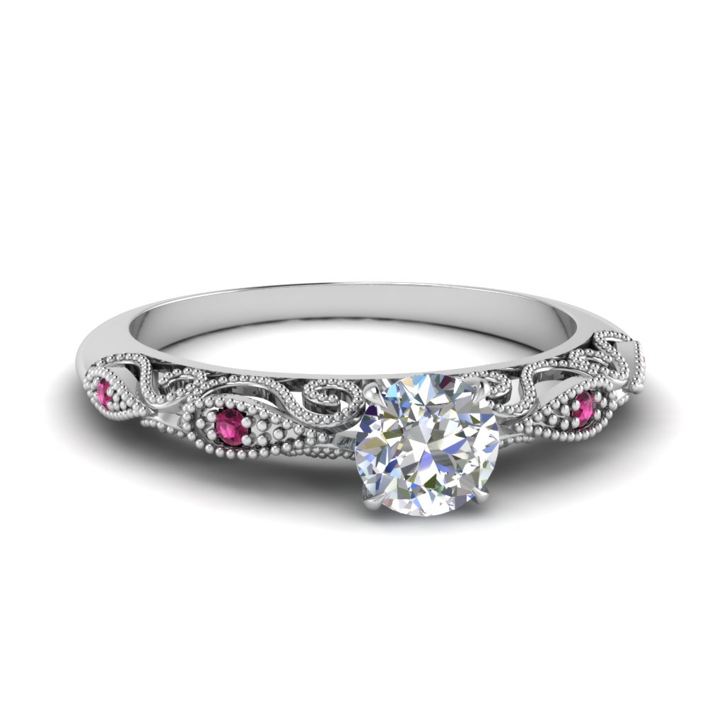 paisley round diamond engagement ring with pink sapphire in FD69805RORGSADRPI NL WG.jpg