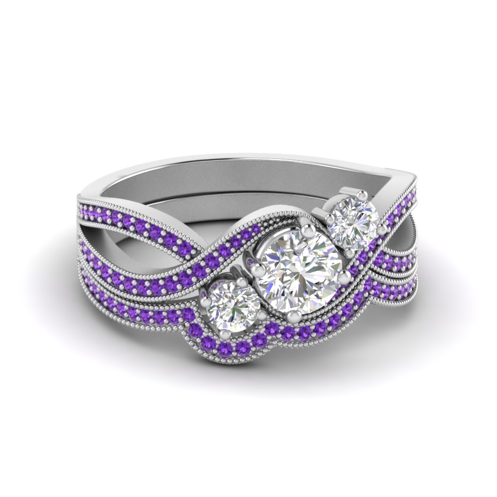 pave-3-stone-purple-topaz-swirl-wedding-set-in-FD8101ROGVITO-NL-WG-GS