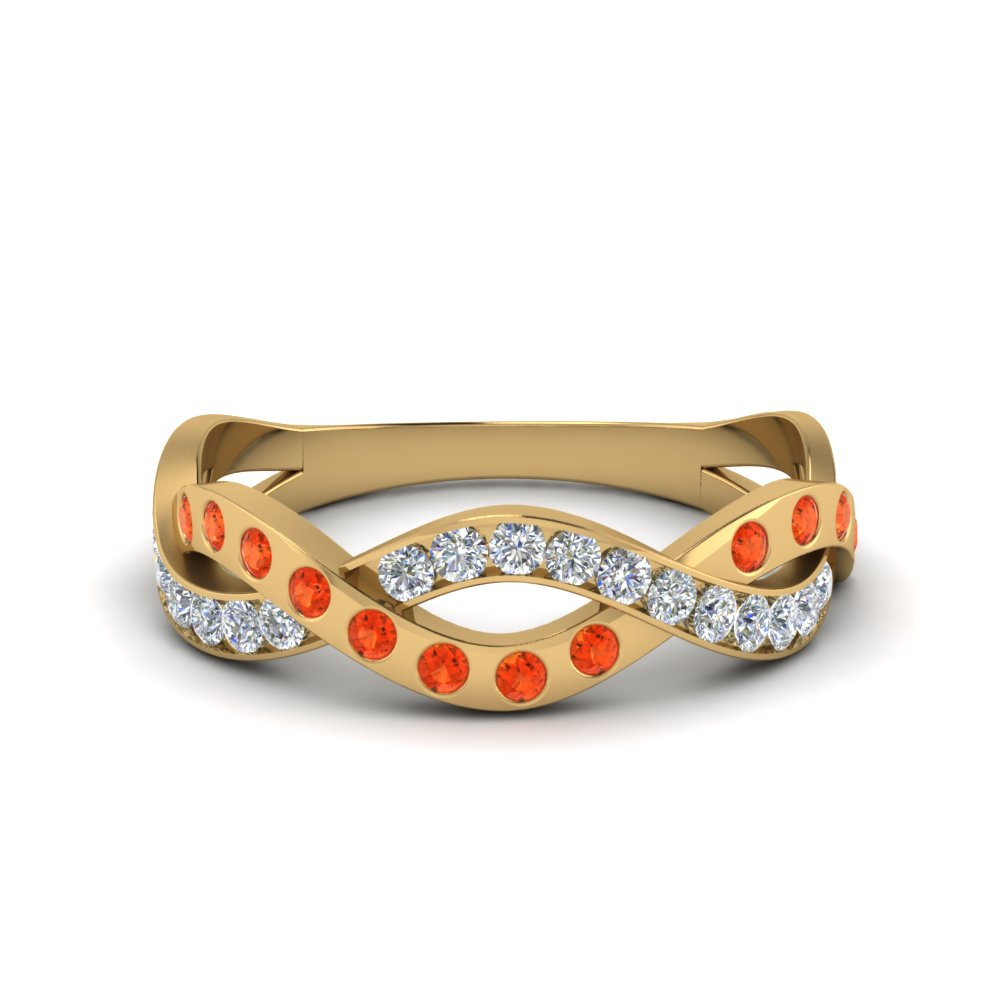 Orange Topaz In color Gold
