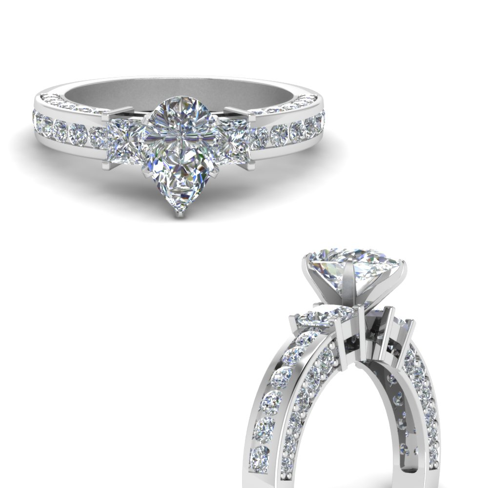 pave and channel side stone pear shaped diamond engagement ring in FDENS1096PERANGLE3 NL WG.jpg