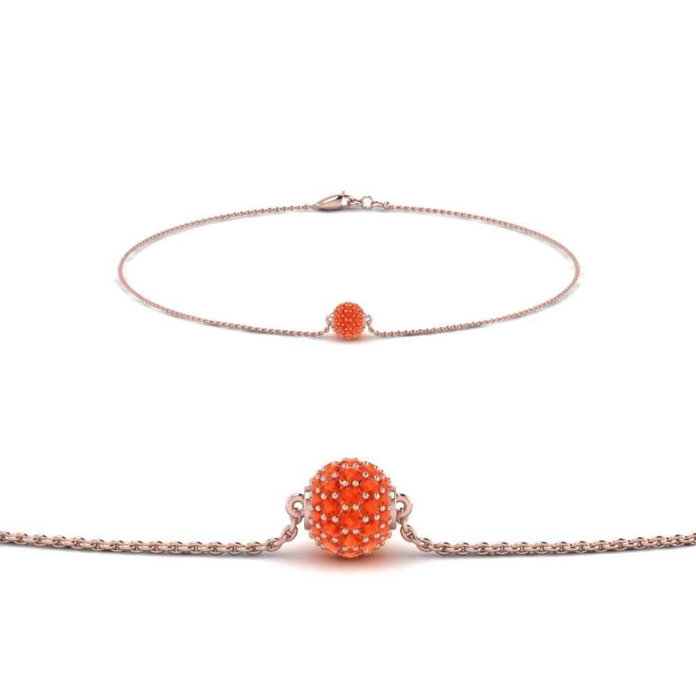 Orange Topaz Pave Bracelet