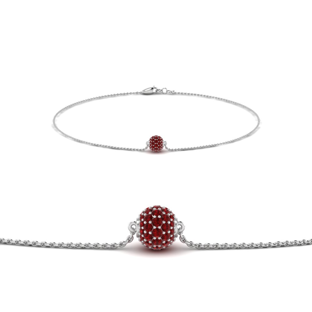 Ruby With Chain Bracelet