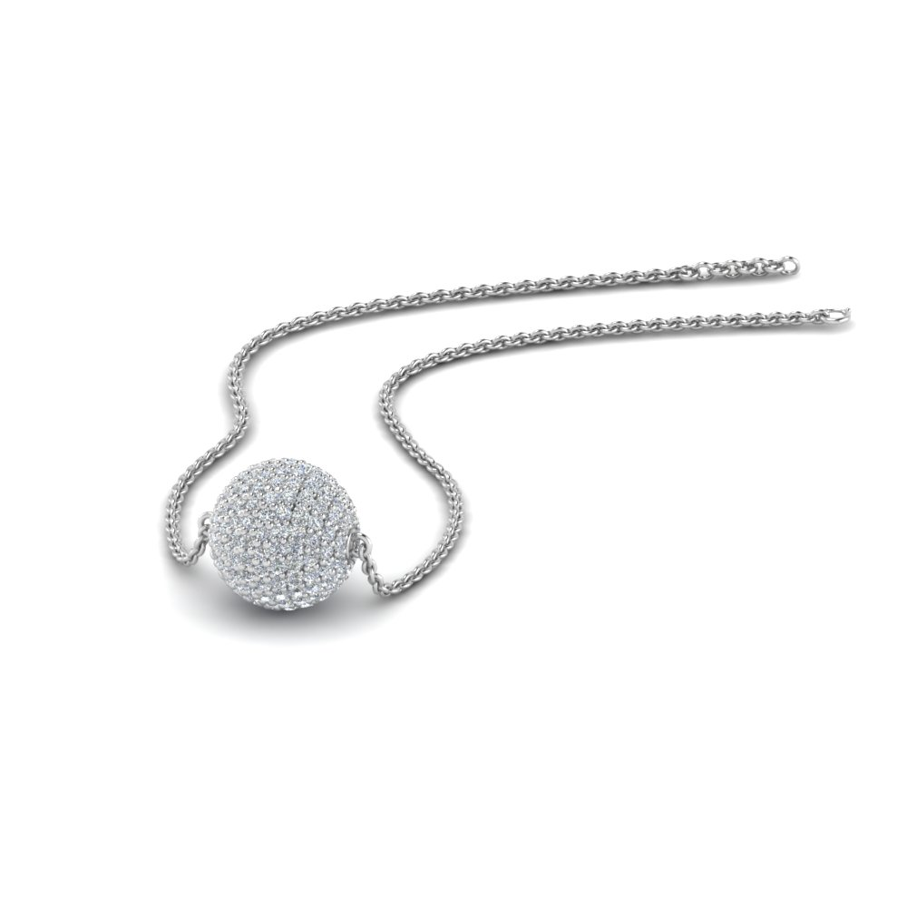 Pave Ball Pendant For Women