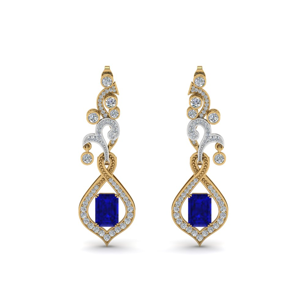 Vintage Sapphire Dangle Drop Earring