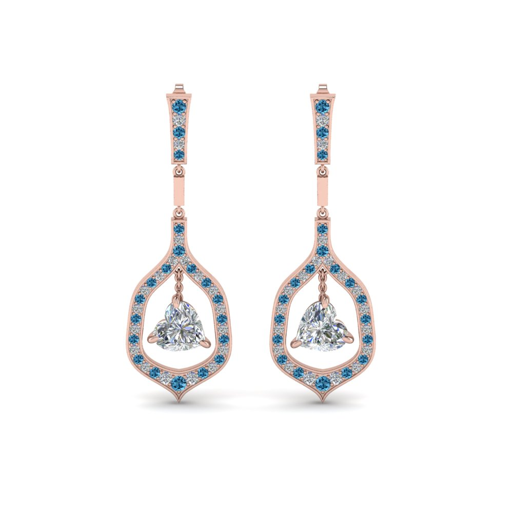 pave diamond heart shaped drop earring with ice blue topaz in FDEAR8441HTGICBLTOANGLE1 NL RG