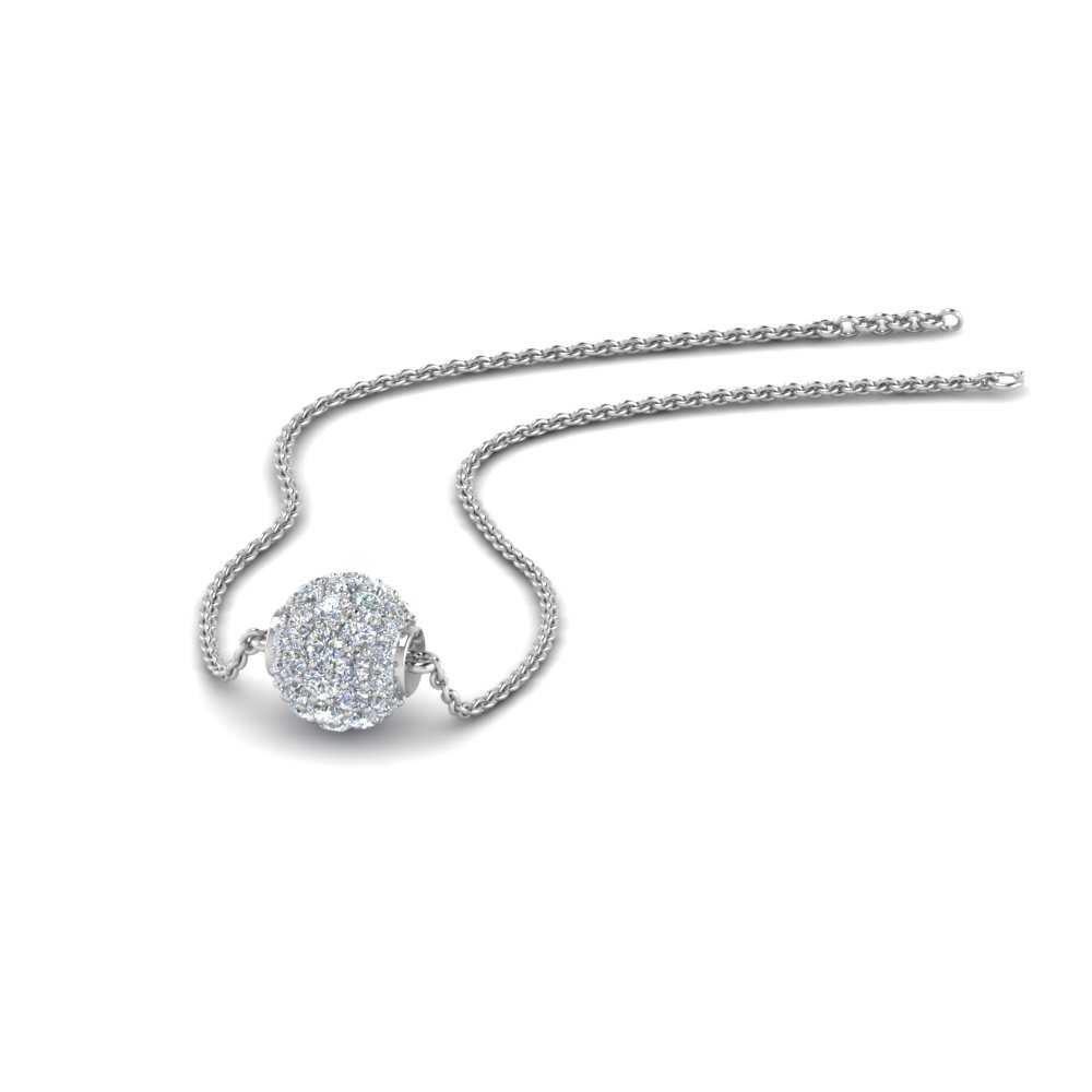 0.50 ct. pave diamond sphere pendant in FDPD8433 NL WG