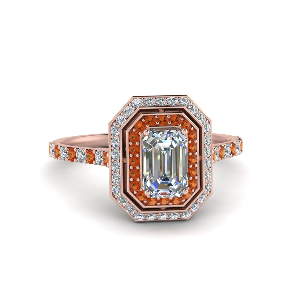 petite-emerald-cut-diamond-engagement-ring-with-orange-sapphire-double-halo-in-FD121992EMRGSAOR-NL-RG