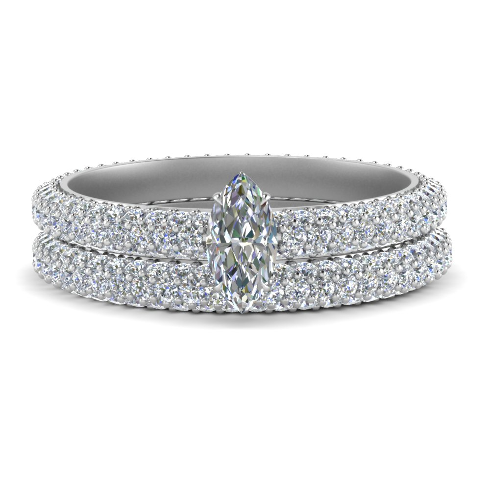 pave-eternity-marquise-cut-moissanite-wedding-ring-set-in-FD9241MQ-NL-WG