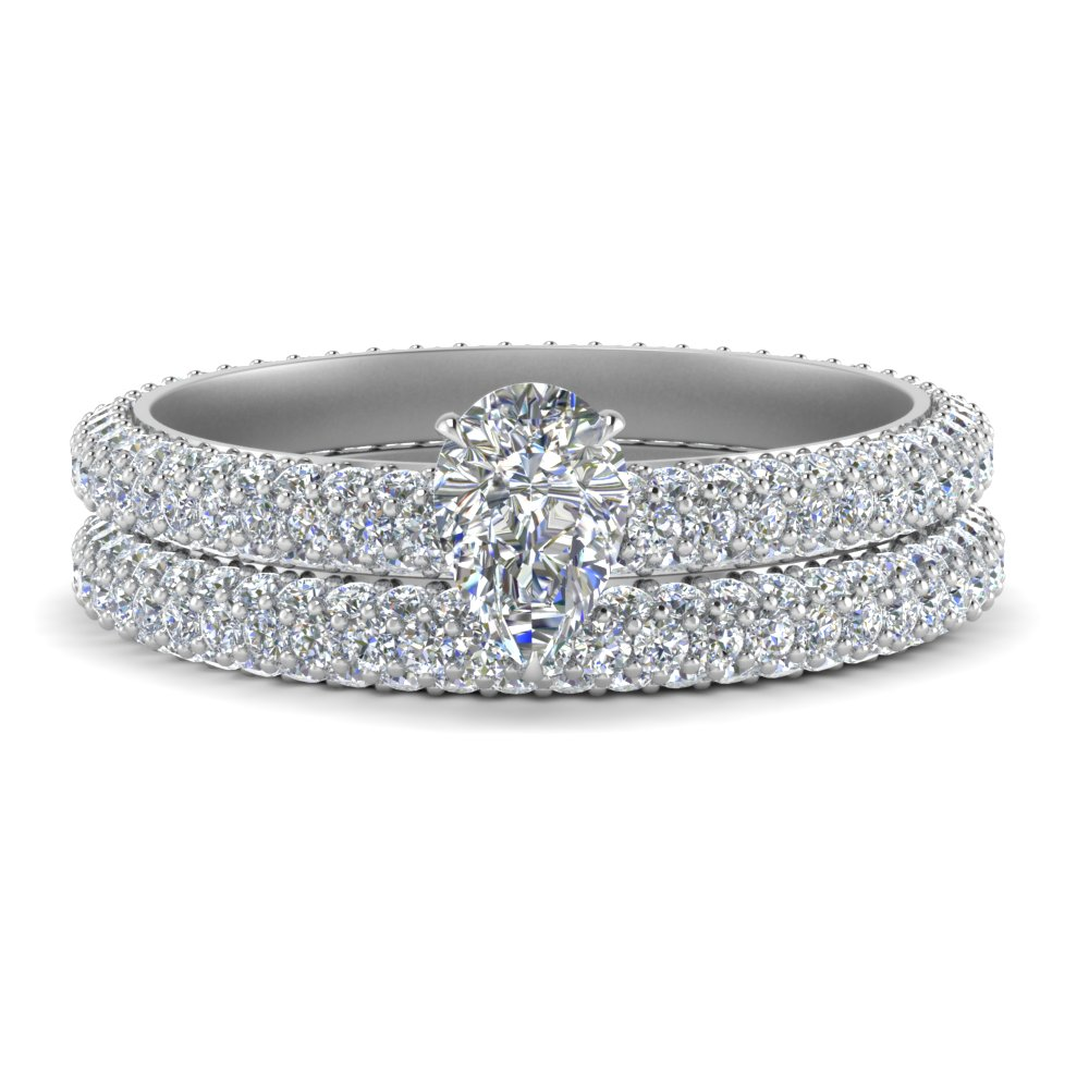 pave-eternity-pear-shaped-diamond-wedding-ring-set-in-FD9241PE-NL-WG