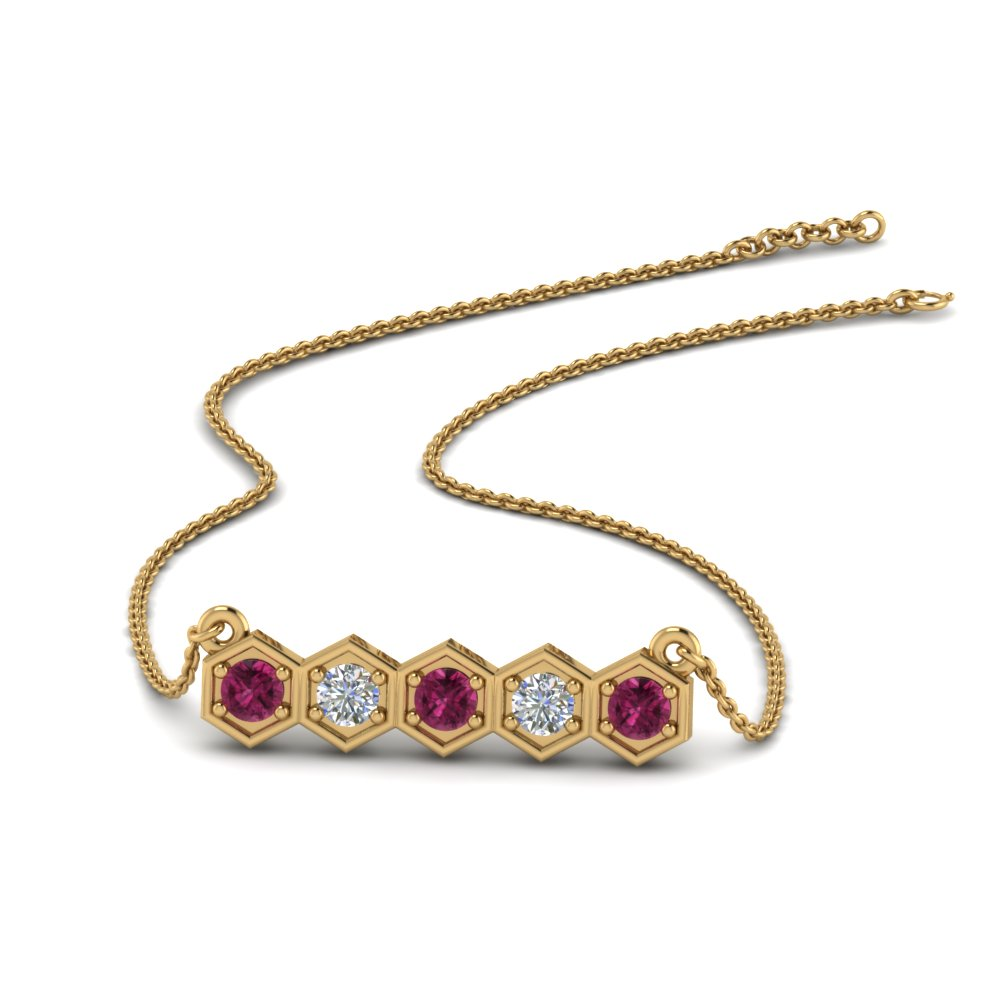 pave-hexagon-diamond-necklace-with-pink-sapphire-in-FDPD86609GSADRPI-NL-YG